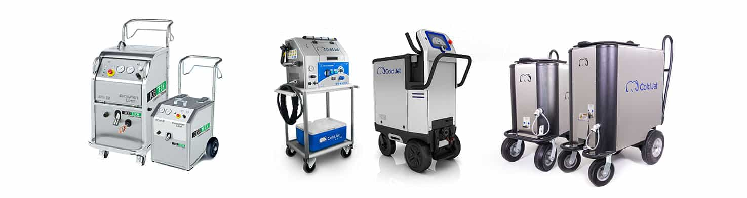 dry ice blasting machine lineup