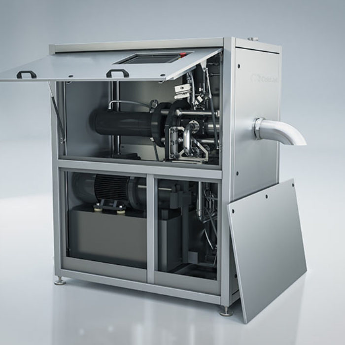 internal view of PR350H dry ice manufacturing machine